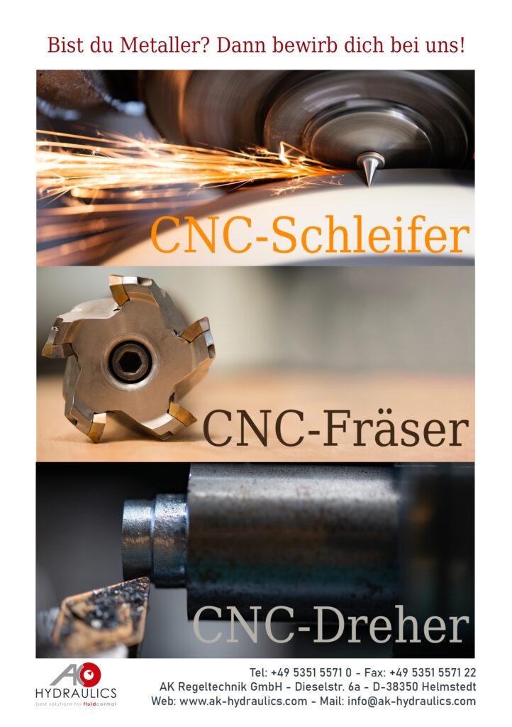 CNC Dreher, CNC Schleifer, CNC Fräser